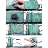 foldable outdoor camping splicable inflatable sponge sleeping pad 183 * 57 * 2.5cm Air Mattress Bag Camping Pad Picnic Beach Mat
