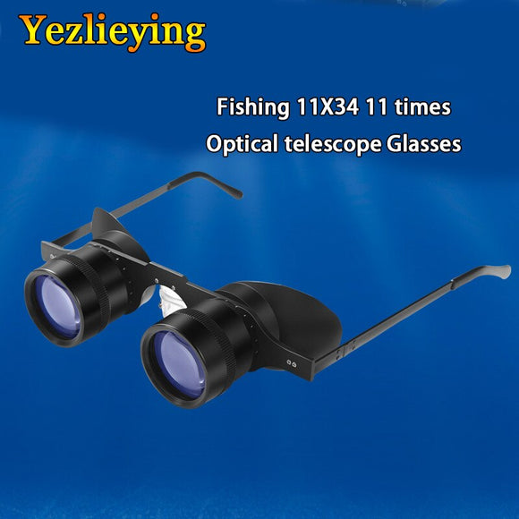 New Portable Fishing Binoculars 11 times optical telescope Glasses Style & Magnifier Binoculars For Opera Theater Concert