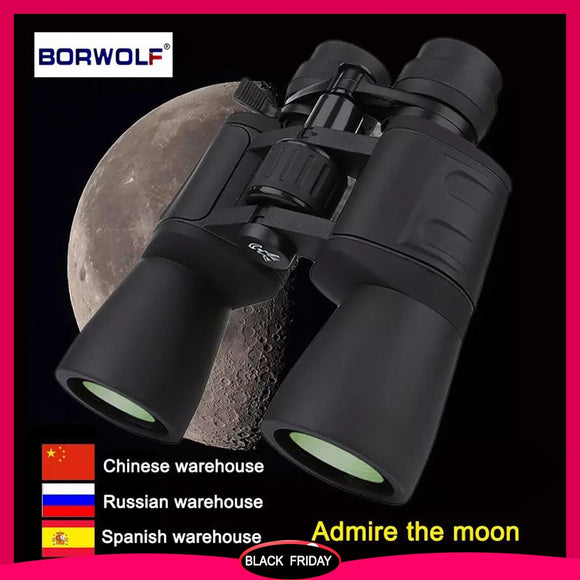 Borwolf 10-180X90 High Magnification HD Professional Zoom Powerful Binoculars Light Night Vision for HuntingTelescope Monocular