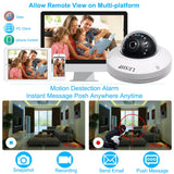 LESHP HD  POE IP Bullet Camera Outdoor Waterproof Security Camera Day/Night Vision Motion Detection Intelligent Alarm
