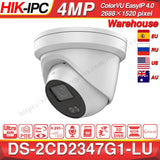 Hikvision ColorVu IP Camera DS-2CD2347G1-LU 4MP Network Bullet POE IP Camera H.265 CCTV Camera SD Card Slot EasyIP 4.0 OEM