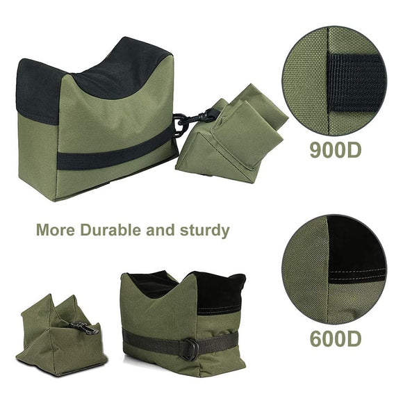 Front & Rear Bag Rifle Support Sandbag Without Sand Military Sniper Target Stand Hunting  Accessories