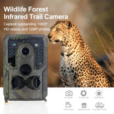 PR400C 1200W Trail Camera 12MP 1080P HD Game Camera Waterproof Wildlife Scouting Hunting Cam with 120° Wide Angle Lens