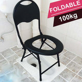 Foldable Toilet Chair Commode Seat Chair For Elderly Pregnant Women Portable Potty Toilet Seat For Outdoor Camping Fishing Chair