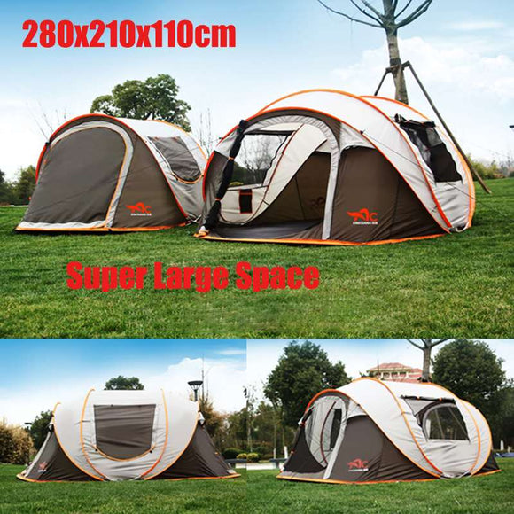 5-8 Person Portable Camping Tent Automatic Easy Setup Tent Family  Outdoor Hiking Beach Tent Sun Protection Shelter Waterproof