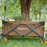 Outdoor Camping Trolley Folding Trailer Portable Fishing Gear Carriage Picnic Beach Cart Self-driving Work Wagon Equipment