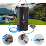 10L Capacity Shower Bag Outdoor Water Bag Camping Collapsible Water Container Portable Shower Bag PVC Water Storage Bag