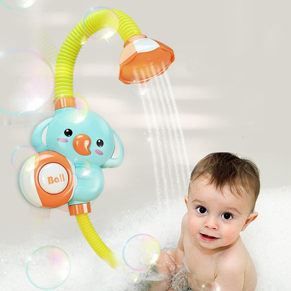 New Electric Shower Elephant Water Spray Toy Faucet Bathroom Bathtub Educational Play Game For Kids Children Baby Bath Toy