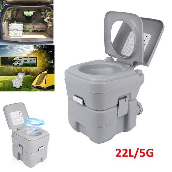 Yonntech Portable 20L 5G toilet toilet Potti Caravan camping toilet travel toilet gray