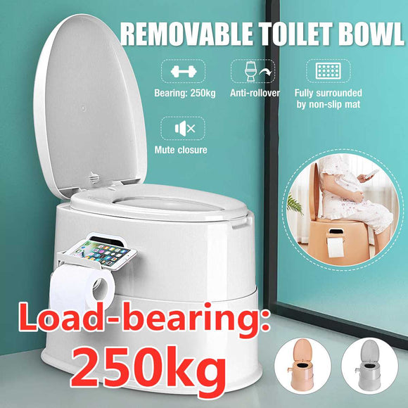 Portable Toilet Seat Elderly Pregnant Home Outdoor Travel Camping Caravan Movable Toilet Load 250kg Adult Children 42X50X40CM