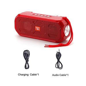 Bluetooth Speaker Portable Wireless Stereo bass Music Box TWS Outdoor Speaker Support TF/FM Radio/USB/AUX With flashlight