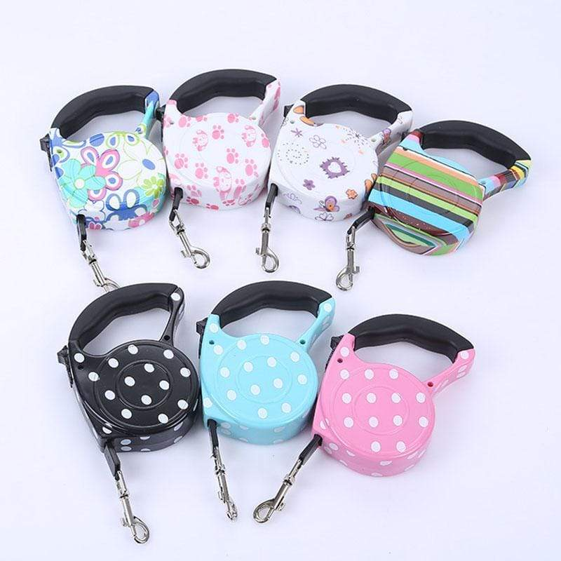 3M/5M Retractable 11 Colors Fashion Printed Dog Leash Automatic Flexible Traction Rope Belt