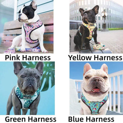 Cartoon Funny Dog Harness for Small Dog Refective Breatheable