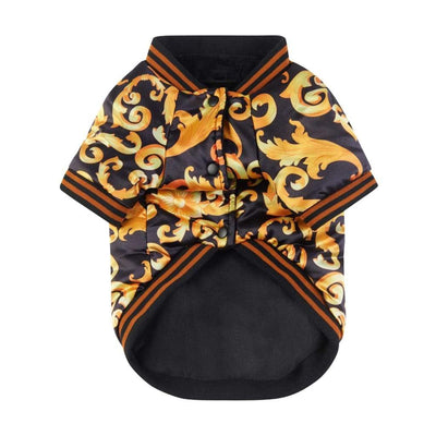 Golden Lotus Luxurious Bomber Jacket