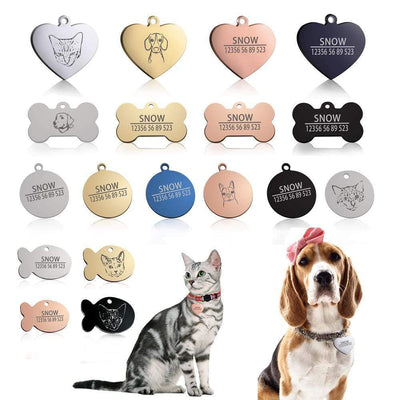 Handmade Pet ID Tag Engraving Charm Pendant - Personalized Pet Name and Phone