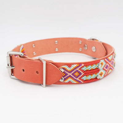 Personalized Handmade Vegetable tanned Leather Dog Collar