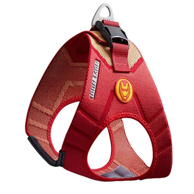 No Pull Dog Harness Super Heroes Adjustable Captain Marvel Edition