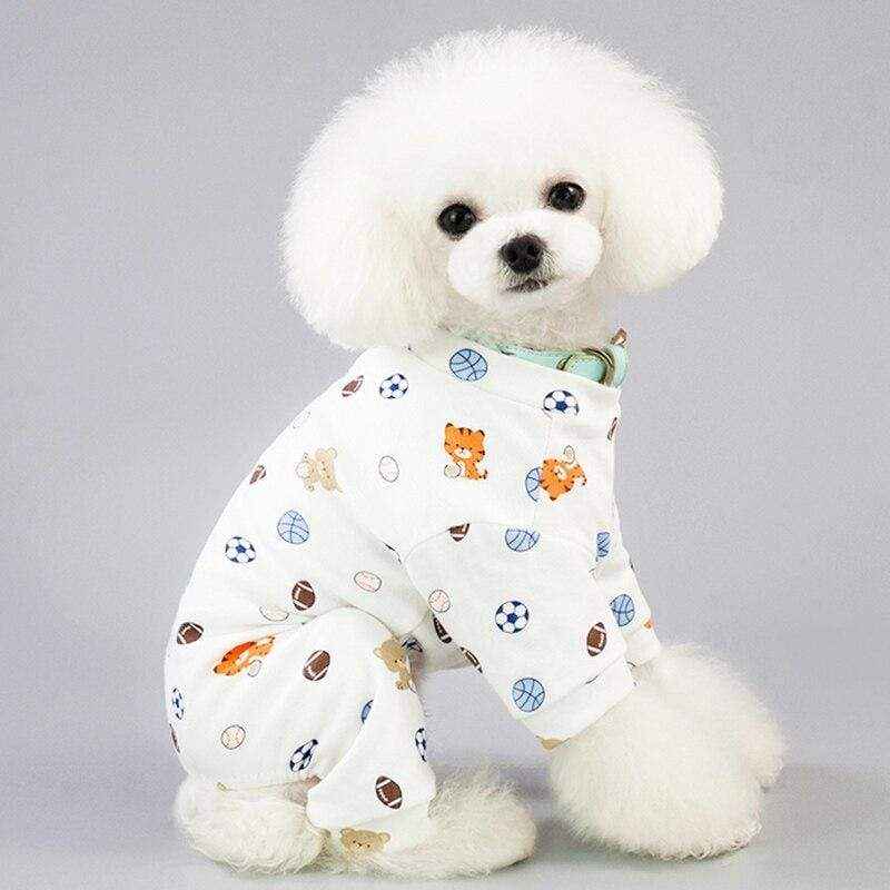 Cute Pajamas Dog Clothes Cotton For Dogs