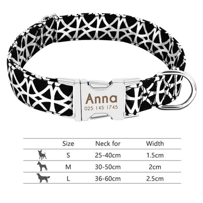 Dog Collar Adjustable Creative Deisgn Personalized Name Tag and Phone