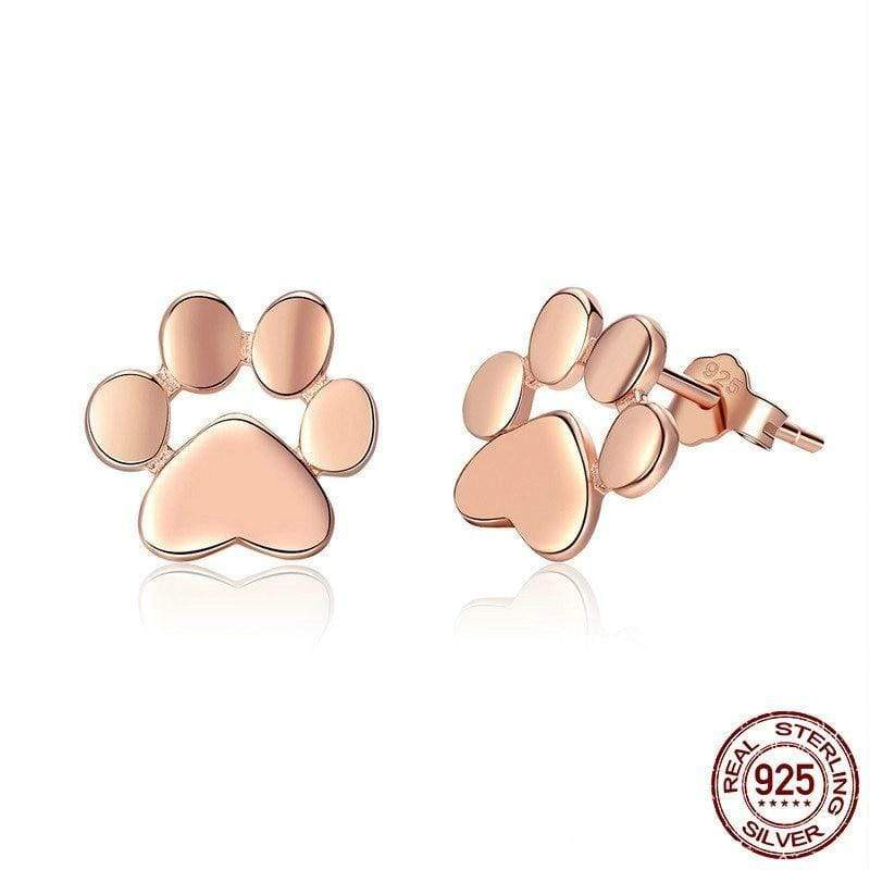 Platinum Paw Print Earrings For Pet Lovers Limited