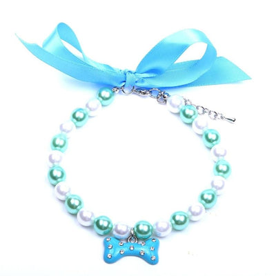 Pearls Necklace Collar Lovely Bone Charm Jewelry Accessories