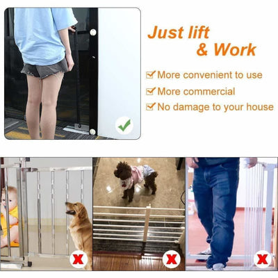 Portable Kids & Pets Safety Door Guard, Dog, Dog Fence, Dog Fence for Indoor, Dog Gate, Dogs