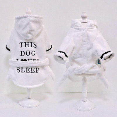 This Dog Love Sleep Bathrobe - Dog Coat Pajamas
