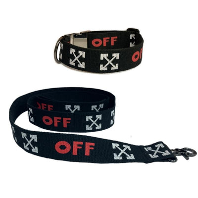 Woof White Ultimate Dog Collar & Leash