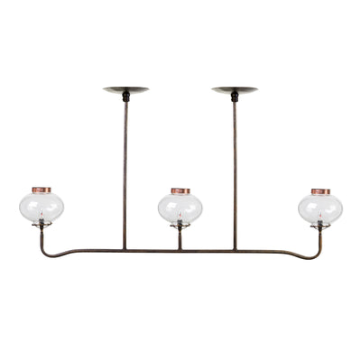 3 LIGHT GAS REPLICA CHANDELIER