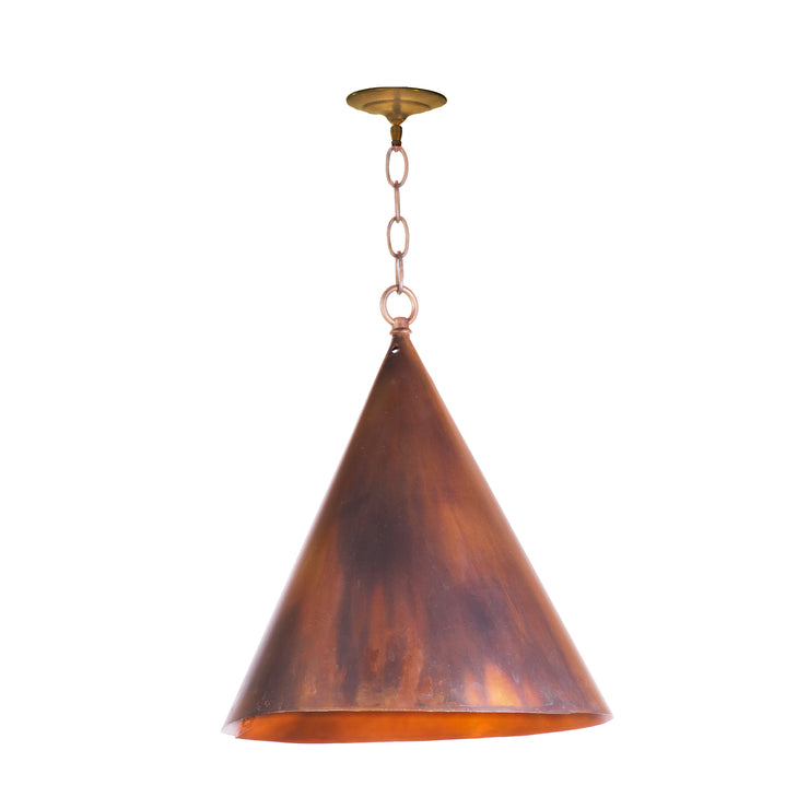 COPPER CONE PENDANT