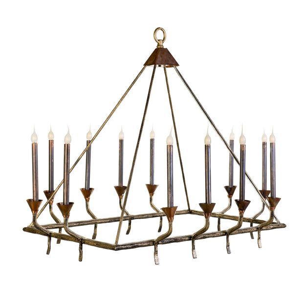 TEEPEE RECTANGULAR CHANDELIER