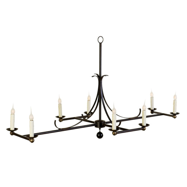 ELONGATED SCROLL CHANDELIER