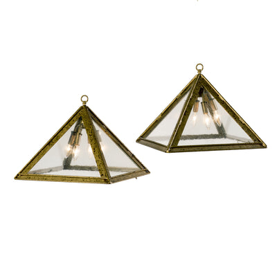 INVERTED PYRAMID GLASS PENDANT