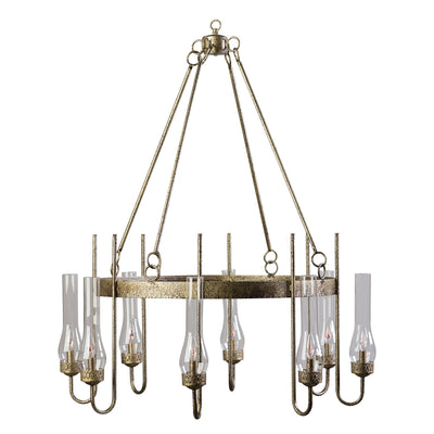 EIGHT LIGHT J CHANDELIER