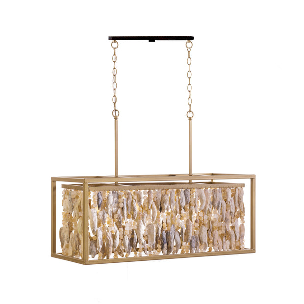 RECTANGULAR WITH SHELLS CHANDELIER
