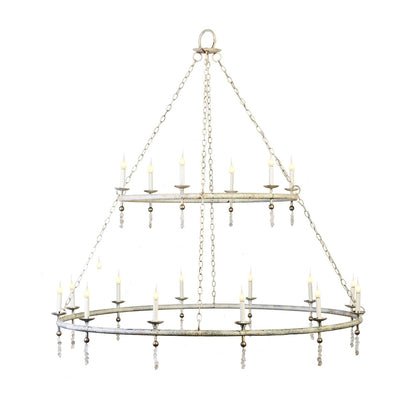 TWO TIER CIRCULAR TUBING CHANDELIER