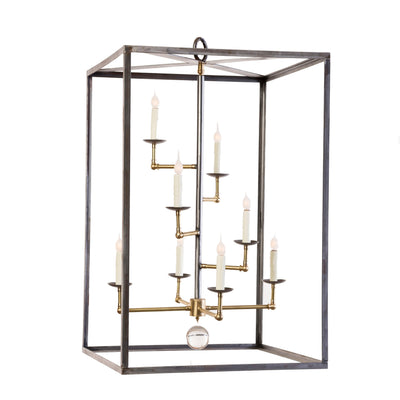 STAGGERED ARM BOX HART CHANDELIER