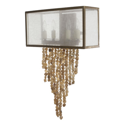 OYSTER LINEN SCONCE