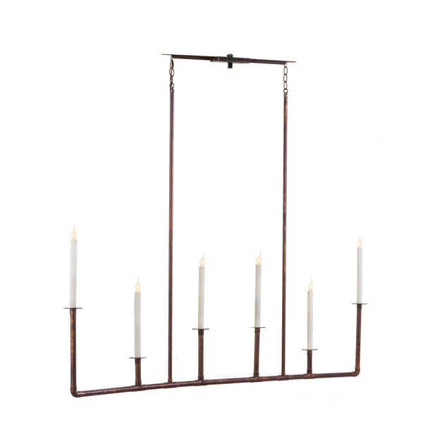 VINTAGE LONG BAR CHANDELIER