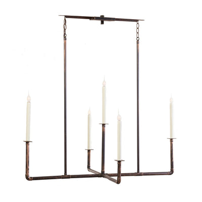 VINTAGE LONG BAR WITH CROSS CHANDELIER