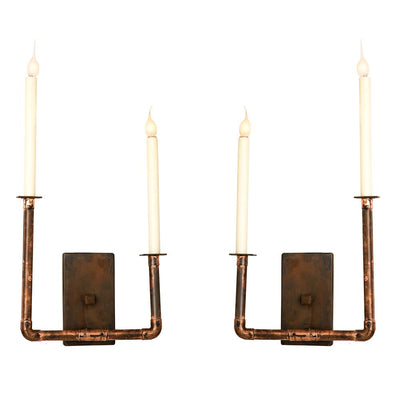 LONG BAR DOUBLE SCONCE LEFT & RIGHT