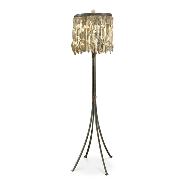 SHELL DRUM FLOOR LAMP