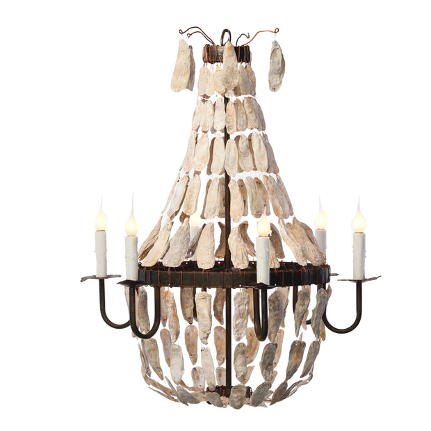 SMALL EMPIRE OYSTER SHELL CHANDELIER