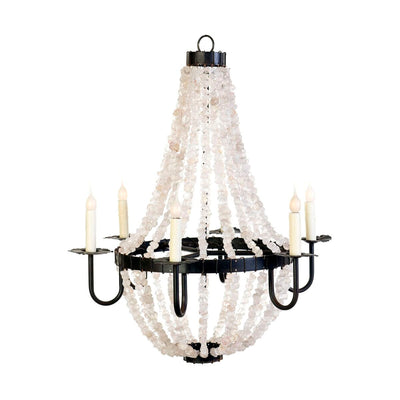 LARGE EMPIRE ALL CRYSTAL CHANDELIER