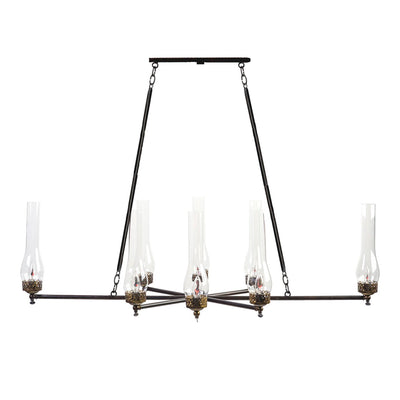 8 LIGHT GAS REPLICA CHANDELIER