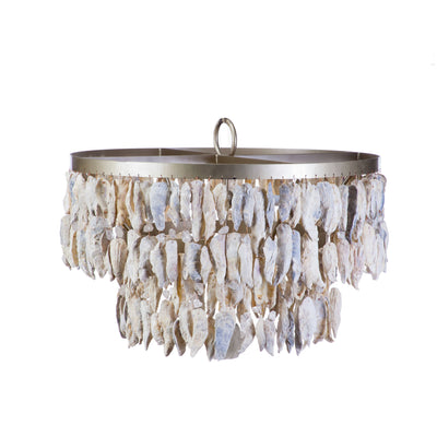 DOUBLE TIER SHELL CHANDELIER