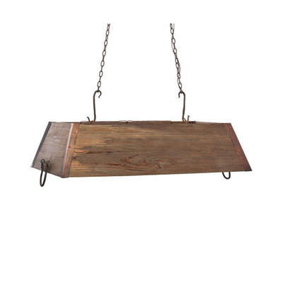 WOODEN TROUGH CHANDELIER