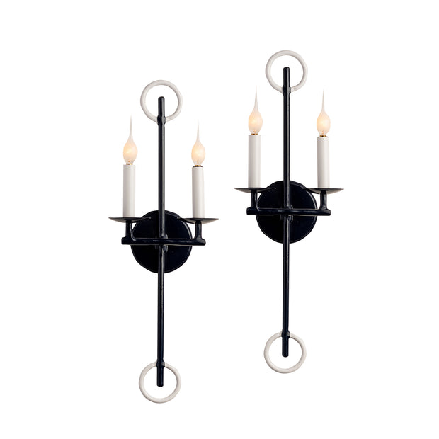 Two Light Colleton Sconce