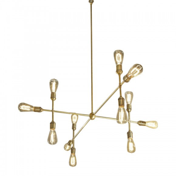 VINTAGE PIPE WORKS CHANDELIER