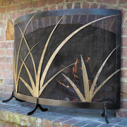 MARSH GRASS FIREPLACE SCREEN